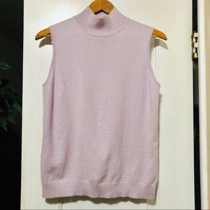 St John 100% Cashmere Mock Neck Sweater